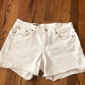 Jcrew women's white jean shorts 4 inch inseam